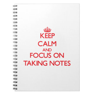 Guarde la calma y el foco en tomar notas libros de apuntes con espiral