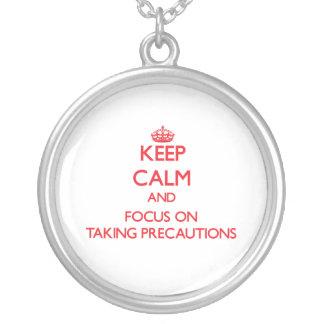 Guarde la calma y el foco en tomar precauciones pendiente