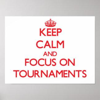 Guarde la calma y el foco en torneos impresiones