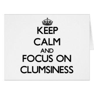 Guarde la calma y el foco en torpeza
