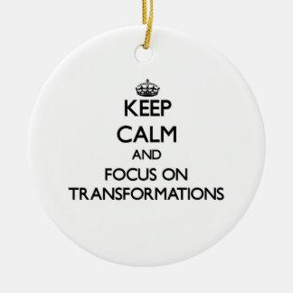 Guarde la calma y el foco en transformaciones adornos de navidad