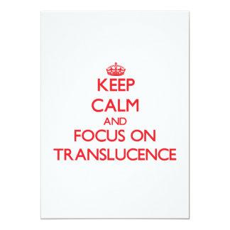 Guarde la calma y el foco en Translucence Invitación 12,7 X 17,8 Cm
