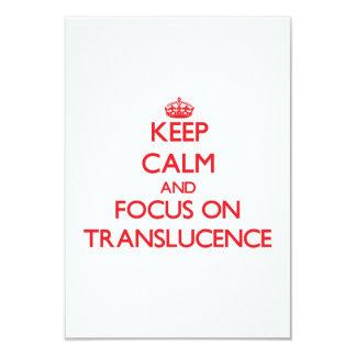 Guarde la calma y el foco en Translucence Invitación 8,9 X 12,7 Cm