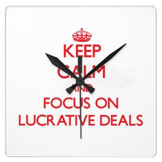 Guarde la calma y el foco en tratos lucrativos