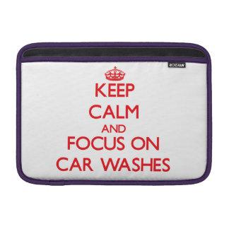 Guarde la calma y el foco en túneles de lavado funda para macbook air