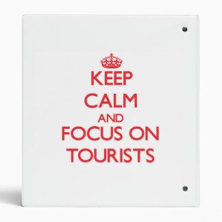 Guarde la calma y el foco en turistas