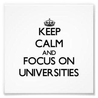 Guarde la calma y el foco en universidades fotografia