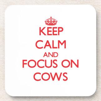 Guarde la calma y el foco en vacas