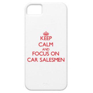 Guarde la calma y el foco en vendedores de coches iPhone 5 cárcasa