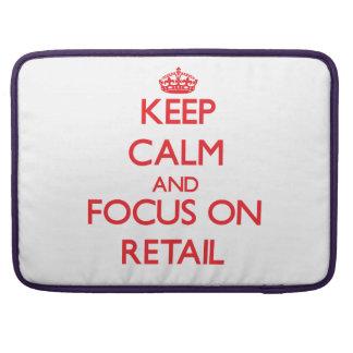 Guarde la calma y el foco en venta al por menor funda para macbooks