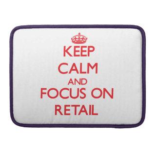 Guarde la calma y el foco en venta al por menor fundas para macbooks