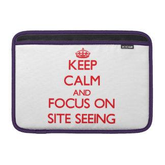 Guarde la calma y el foco en ver del sitio funda para macbook air
