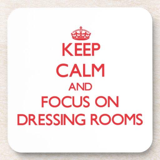 Guarde la calma y el foco en vestuarios posavaso