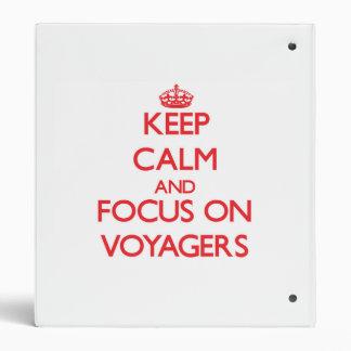 Guarde la calma y el foco en viajeros