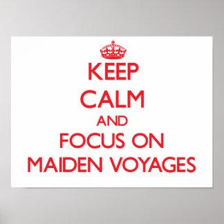Guarde la calma y el foco en viajes virginales poster