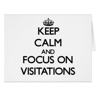 Guarde la calma y el foco en Visitations Tarjeta De Felicitación Grande