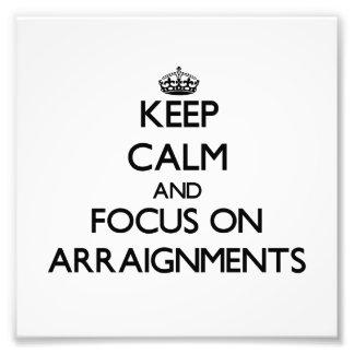 Guarde la calma y el foco en vistas de lectura de fotografía