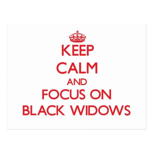 Guarde la calma y el foco en viudas negras