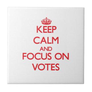 Guarde la calma y el foco en votos azulejo ceramica