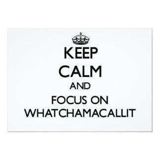 """Guarde la calma y el foco en Whatchamacallit Invitación 5"""" X 7"""""""
