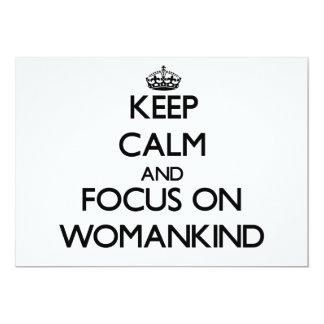 Guarde la calma y el foco en Womankind Comunicado Personalizado