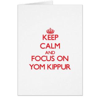Guarde la calma y el foco en Yom Kipur Tarjeta De Felicitación