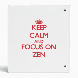 Guarde la calma y el foco en zen