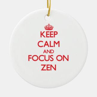 Guarde la calma y el foco en zen adornos
