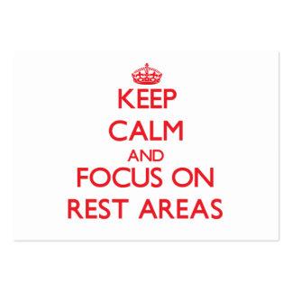 Guarde la calma y el foco en zonas de descanso plantilla de tarjeta personal
