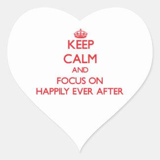 Guarde la calma y el foco encendido feliz siempre