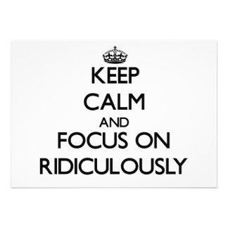 Guarde la calma y el foco encendido ridículo