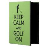 Guarde la calma y el golf en los casos de encargo