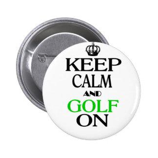 Guarde la calma y el golf encendido pins
