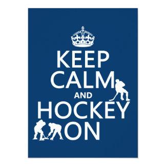 Guarde la calma y el hockey en (en cualquier comunicado