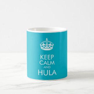 Guarde la calma y el hula - cambie el color de taza