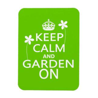 Guarde la calma y el jardín encendido iman flexible