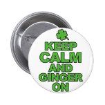 Guarde la calma y el jengibre en Tshirts.png Pin