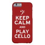 Guarde la calma y el juego Cellocase