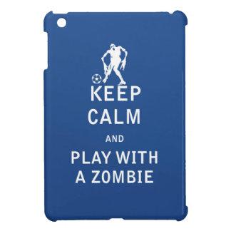 Guarde la calma y el juego con un zombi