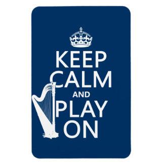 Guarde la calma y el juego en (arpa) (cualquier co imanes