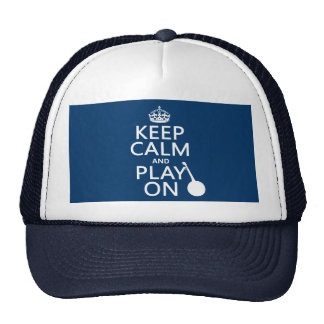 Guarde la calma y el juego en (banjo) (cualquier c gorro