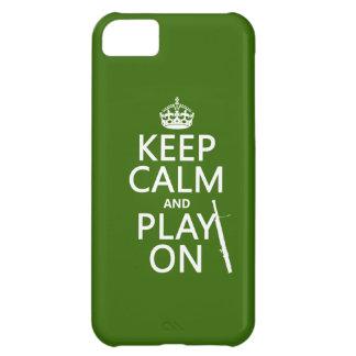 Guarde la calma y el juego en (Bassoon) (cualquier Carcasa Para iPhone 5C