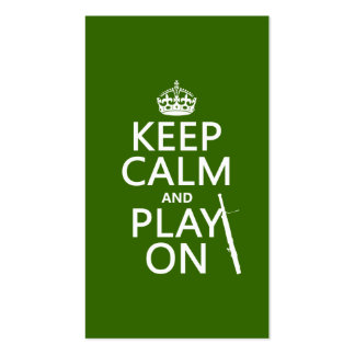 Guarde la calma y el juego en Bassoon cualquier Tarjeta Personal