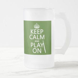 Guarde la calma y el juego en Bassoon cualquier Taza De Café