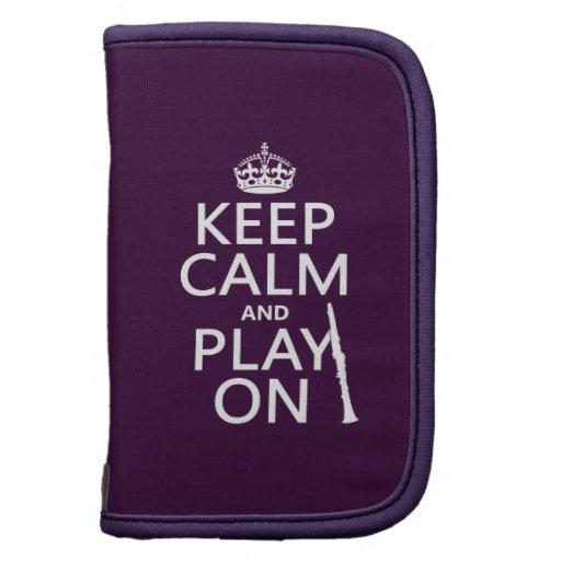 Guarde la calma y el juego en (clarinet) (cualquie organizadores