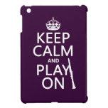 Guarde la calma y el juego en (clarinet) (cualquie iPad mini protectores