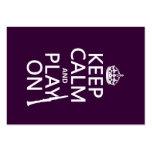 Guarde la calma y el juego en (clarinet) (cualquie plantilla de tarjeta de negocio
