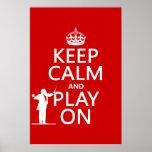 Guarde la calma y el juego en (conductor) (cualqui impresiones