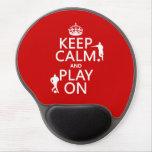 Guarde la calma y el juego en (el fútbol) (en cual alfombrillas con gel