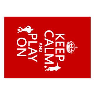 Guarde la calma y el juego en (el fútbol) (en cual tarjetas de visita